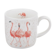 Wrendale by Royal Worcester Mug - Pink Ladies (Flamingos), Multi colour