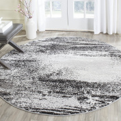 Safavieh Adirondack Collection ADR112G Silver and Multi Modern Abstract Round Area Rug