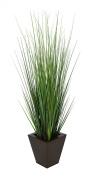 Artificial 110cm Grass in Matte Brown Square Zinc