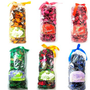 6 Fragranced Potpourri Bags Scented Decorative Spice 210ml Assortment Blend New !