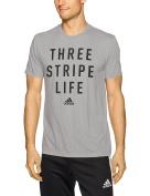 adidas Men's Classic Badge Sport Graphic Tee, Medium Grey Heather/Black, Medium