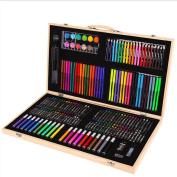 HTTMYY 205 Pcs/set Children Drawing Set Painting Art Water Colour Pen Crayon Oil Pastel Paint Student Supplies