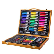 HTTMYY Art Set Deluxe 150 Pcs Children's Birthday Presents Painting Stationery Watercolour Pen And Brush Students Draw Tools