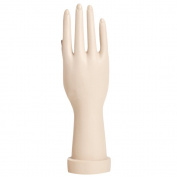 Beetest-EU-Standing Realistic Right Hand Jewellery Bracelet Ring Gloves Display Hand Mannequin Hand Skin Colour Short Style