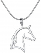 Fashion Vintage Ethnic Style Horse Head Pendant Necklace For Cowgirl Teen Girls Women Gifts