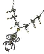Creepy Spider Rhinestone Chandelier Necklace