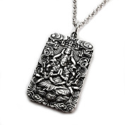 MISS - E - JEWELS Thousands of Goddess of Mercy Vintage Stainless Steel Men Women Buddha Pendant Necklace medallion amulet talisman