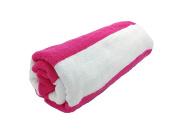 Terry Cotton Cabana Beach Towels, FUCHSIA/WHITE