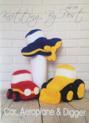 KNITTING PATTERN Car, Aeroplane and Digger From Knitting by post