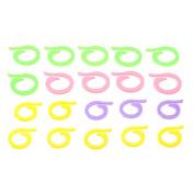 Dophee 20Pcs Colourful Knitting Crochet Craft Locking Stitch Markers Holder Needle Clip