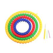 Dophee 4Pcs 4 Size Classical Round Circle Hat Knitter Knitting Knit Loom DIY Tool Kit