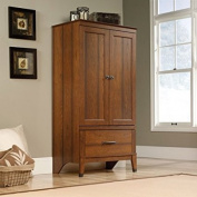 Storage Armoire w\ Engineered Wood Construction, Cherry Wood Finish, Country Style, Garment Rod Included, Wrought Iron Style Hardware and Accents + Expert Home Guide from LoveUS