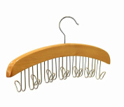Anndeeson Vintage Wood Multifunctional Clothes Hanger Tie Scarves Holder with 12 Hooks