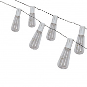 Living & Co Solar Edison Bulb String White 10 LED