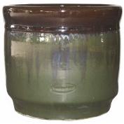 Living & Co Pot Drum Brown/Green Size 2 36.5 x 31.5cm