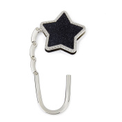 MA-on Handbag Purse Hook Hanger Holder (Star Black)