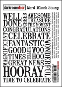 Darkroom Door Congratulations Word Block Stamp Set