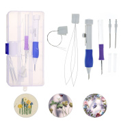 ARTISTORE Embroidery Stitching Punch Needle Set Magic Embroidery Stitching Punch Pen With Case DIY Craft Sewing Tool for Embroidery mm
