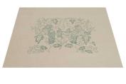 Printed Linen - MELLERSTAIN PARROTS design form The Crewel Work Company