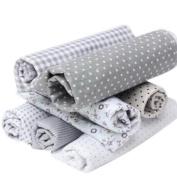 RainBabe DIY Sewing Scrapbooking Grey Cotton Craft Fabric Bundle Patchwork Quilting Dots Artcraft