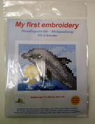 Orchidea Embroidery Set for Kids Half Cross Stitch Dolphin 9722