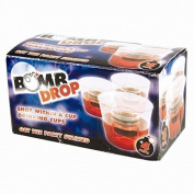 Bomb Drop Pack of 4 Drinking Shot Glasses Reusable Plastic Cups