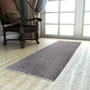 Lifewit Runner Rug Long Kitchen Mat Shag With Anti Slip Rubber Back for Bedroom Living Room Machine Washable, Dark Grey