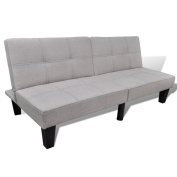 Anself Convertible Sofa Loveseat Bed Adjustable Futon Bed Sleeper Beige