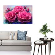 5D Flower Diamond Painting , YOYOUG 5D Diamond Rhinestone Pasted Embroidery Painting Cross Stitch Home Decor