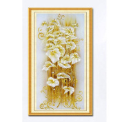 TIREOW 5D Modern Art Style Beautiful Vivid Handmade Embroidery Full Drill Diamond Yellow Flower Painting Cross Stitch 12#