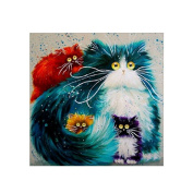 DIY 5D Diamond Painting Cat Pattern Cross Stitch Embroidery