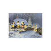 Christmas Snow House Cross Stitch Painting DIY 5D Diamond Embroidery