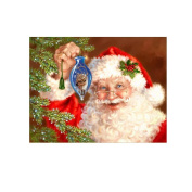 Lovely Christmas Santa 5D Diamond Embroidery DIY Cross Stitch Painting