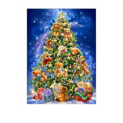 DIY 5D Diamond Embroidery Little Bear Christmas Tree Cross Stitch Painting