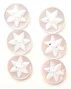 Flower Detail Button - Incandescent - 16mm