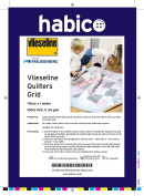 habico Quilters Grid, Polyester, White, 15 x 1 x 25 cm