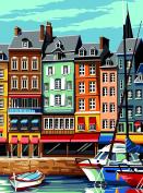 SEG de Paris Tapestry/Needlepoint Kit – Honfleur Harbour Front