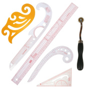 XIEHAIGE 6 Pcs DIY Clothing Measuring French Curve Pattern Grading Rulers Pattern Styling Design Craft Sewing Tool Set