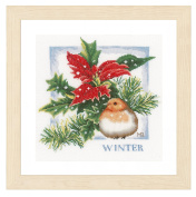 Lanarte PN-0162305 | Winter Flower Evenweave Cross Stitch Kit | Counted