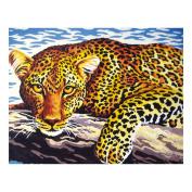 Collection D'Art Tapestry Kit Leopard, 100% Cotton, Multi-Colour, 38 x 25 x 0.5 cm