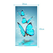AIHOME 5D DIY Diamond Embroidery Painting Cross Stitch Butterfly Pattern Home Decoration Mosaic Crafts Kit for Needlework