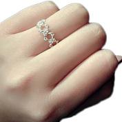 Doitsa Woman Ring Hollow Hexagram Shape Couple Rings Valentine's Day christmas birthday Mother's Love Gift Open Ring