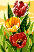 SEG de Paris Tapestry/Needlepoint Canvas – Tulips