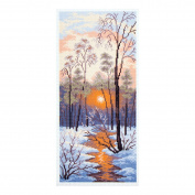 Collection D'Art - Printed Aida Fabric - Winter Sunset
