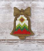 Bell Plywood Christmas Ornament Cross Stitch Kit