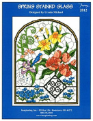 Spring Stained Glass Chart Leaflet