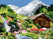 SEG de Paris Tapestry/Needlepoint Canvas – Alpine Scene