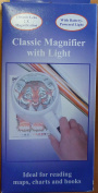 Classic Magnifier with Light, for reading charts, maps, books...