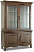 Klaussner Carturra 84589BH 140cm China Cabinet with 4 Doors Shelves Serpentine Antique Bronze Pulls Solid Mango and Rubber Wood Construction in Rich Chocolate