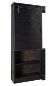 Ashley Sharlowe Collection W635-34 190cm Pier Cabinet with 5 shelves Distressed Detail and Casual Style in Dark Charcoal
